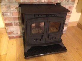 stove multifuel fire hearth mantle fireplace heating livingroom fuel logs coal