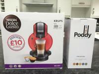 NEW / Unused Coffee Machine & Pod Holder - Nescafé Dolce Gusto Krupa Melody in RED