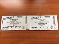 Placebo 2x standing tickets - October Brixton Academy - Swap Tuesday for Monday