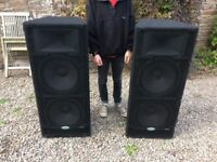 """Samson HD 2x15"""" PA system With class D amplifier"""