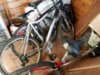 3× mountain bikes and spares