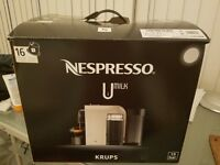 Brand New N'espresso Umilk machine with milk frother, still in box