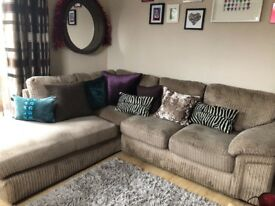 Cargo sienna corner sofa in beige/mink