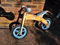 Balance bike in wood, hardly ever used