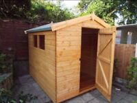 8X7 FT NEW HEAVY DUTY APEX GARDEN STORAGE SHED QUALITY TIMBER FULLY ASSEMBLED