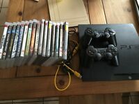 Sony Playstation 3, with 16 games, and 2 controllers