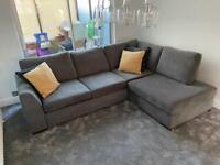 Grey left hand facing corner sofa - Like new