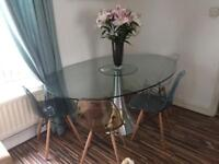Dwell glass dining table ( chairs not included )