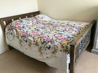 Solid Double wood bed frame