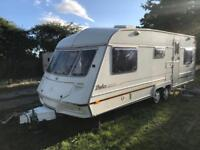 Caravan 4/5/6 berth ABI Dales twin axle 2000 fantastic condition awning available.