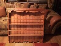 Pine wood rack kitchen