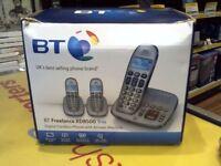 BT TRIO HOUSE PHONES, DIGITAL CORDLESS PHONE