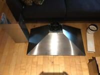 90cm Extractor Hood Fan Brushed Steel, Few Months Old