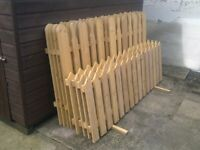 """4 x 2ft x 6ft Picket fence panels, joiner made . also 1 @ 21"""" x 6ft available for collection NG17"""
