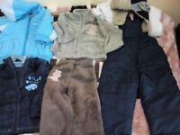 Boys winter coat clothes and rain jacket 18-24 months