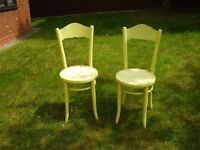 Pair of French style cafe chairs