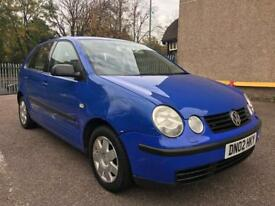 Vw polo 2002 1.4 petrol automatic 5 door blue