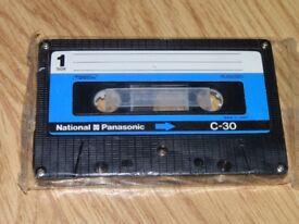 Vintage National Panasonic C-30 Audio Cassette Tape (Still Sealed) Collectors Item