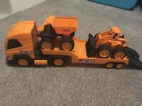JCB diggers and truck