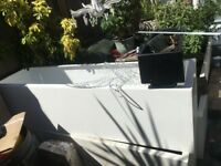Large White Fibreglass Trough Planter Plant Pot - 154cm x 40 x 40