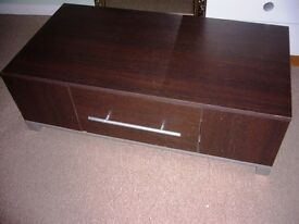 Brown dark coffee table Tv table