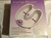 Foot spa massager (unused and boxed)