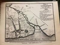 Rare collection maps drawings and plans of liverpool