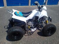 New 229 cc Bashan Road legal quad, assembled,registered and fitted with indicator buzzers