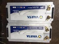 2x new varta m8 12v A732 battery's £100