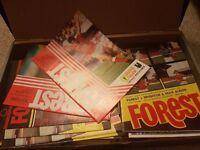 20x Nottingham Forest Programmes