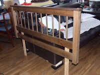 DOUBLE HEADBOARD (SOLIDWOOD)VERY GOOD CONDITION