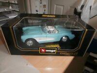 Burago Chevrolet Corvette (1957) 1/18 scale as new