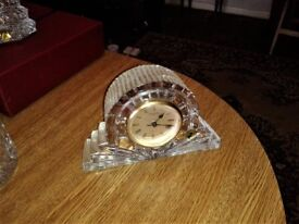 Waterford Crystal Clock with New Battery.