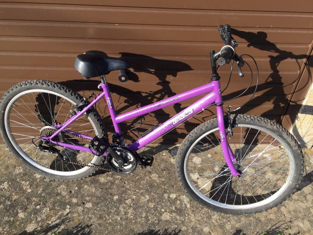 """British Eagle Ladies Mountain bike. Serviced, Free Lock, LightsLocal delivery. Warrantyin Woodstock, OxfordshireGumtree - British Eagle Ladies Mountain bike. Serviced including brand new gear cables, grips & brake blocks fitted. 19"""" Frame, 18 Speed & 26"""" Wheels. Good Clean Condition. Free Lock, Lights & Local delivery. Please take a look at my other bikes """"See All..."""