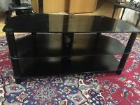 Black TV stand - three tier, holds up to 50inch