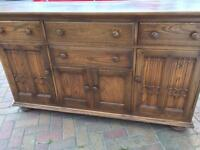 Ercol golden dawn Canterbury sideboard/dresser - couriers welcome