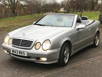 MERCEDES Sports CONVERTIBLE 320 CLK automatic FULL service MOT 4 JANUARY 2017