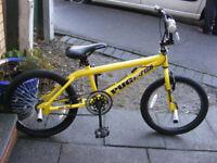 "BOYS 20"" WHEEL STUNT BMX BIKE WITH STUNT PEGS IN GOOD CONDITION AGE 7-16"