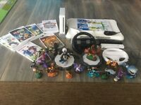 Nintendo Wii with Skylanders and games