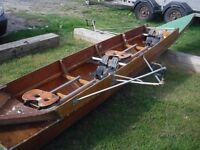 Rowing boat plus carbon oars. Great fun on the river or sea this summer £500