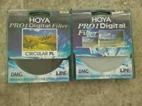 Hoya 77mm Pro1 UV and Polarizer filters