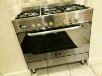New world stainless steel cooker with 5 hobs