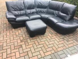 Dfs leather corner sofa del avail