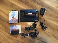 Sega Master System Console with Alex Kidd built in and Golden Axe complete with manual and case