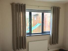Curtains and curtain pole