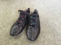Black Leather Country Dance Shoes