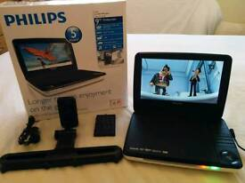 "Phillips Portable DVD Player 9"" Widescreen"