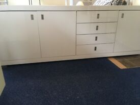 Contemporary high gloss white sideboard purchased from Dwell Furniture