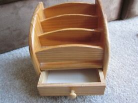 Wooden Revolving Stand with Drawer