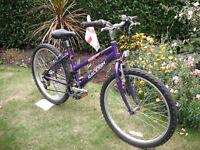"Girls Raleigh Krush Mountain Bike - 13"" Frame - 24"" Wheels - 18 Gears"